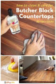 how to clean and care for butcher block countertops butcher