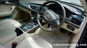 audi a6 interior at audi a6 matrix interior review indian autos