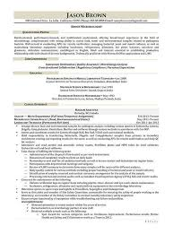 Microbiologist Sample Resume Microbiologist Resume Collection Of Solutions Sample Resume For