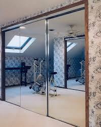Single Mirror Closet Door Mirrored Creative Mirror Shower