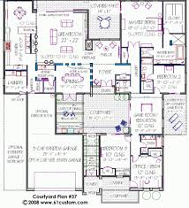 courtyard garage house plans shaped house plan courtyard home plans with garage airm bg