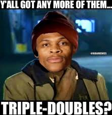 Westbrook Meme - rt nbamemes there aren t any games and russell westbrook might