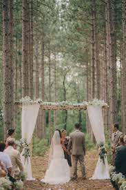 birch arch tree grove outdoor wedding wisconsin romantic venue