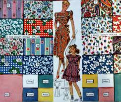 1940s fabrics and colors in fashion