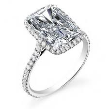 halo engagements rings images Radiant cut halo engagement rings jpg