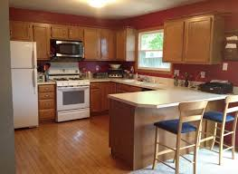 White Appliance Kitchen Ideas Kitchen Paint Colors With Oak Cabinets And White Appliances