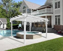White Vinyl Pergola by Amazon Com Regency 12 U0027 X 12 U0027 Vinyl Pergola Arbors Patio