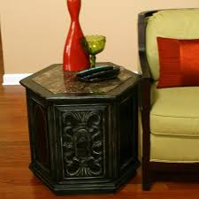 Storage End Table Storage End Table Iron Wood