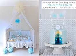 baby boy baby shower kara s party ideas showered from above boy baby shower