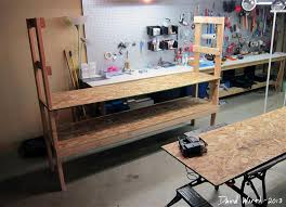 Easy Wood Shelf Plans by Storage Shelf For The Basement