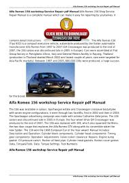 alfa romeo 156 factory service repair pdf manual