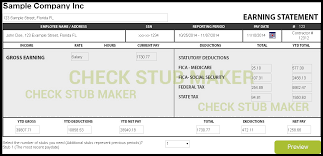 how to make a pay stub check stub maker