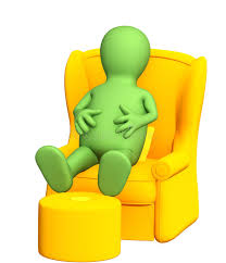 Soft Armchair 3d Puppet Having A Rest In A Soft Armchair Stock Photo Image
