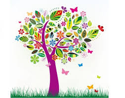 flowers butterfly color tree vector material my free photoshop world