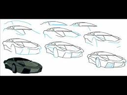 how to draw a lamborghini reventon car easy simple step by step