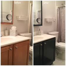 in an afternoon i updated the color of my mom u0027s bathroom vanity