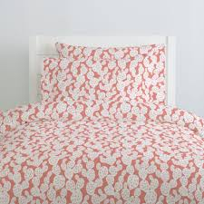 light coral prickly pear duvet cover carousel designs