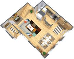 Floor Plans For Real Estate Marketing by Ski Chalet In Switzerland Blue Sketch