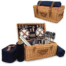 picnic basket set for 2 picnic time style willow picnic basket