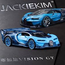 latest bugatti new 1 32 bugatti vision gt gran turismo car model toy with pull