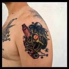 art junkies tattoo studio tattoos skull traditional color