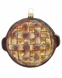 apple pie is a favorite dessert this glass ornament looks