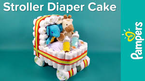 diaper cake ideas stroller diaper cake pampers baby shower