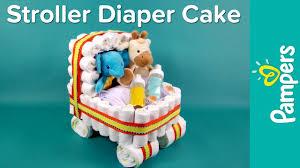 diaper cake ideas stroller diaper cake pampers baby shower