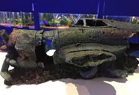 large fighter plane wreck ruin fish tank aquarium ornament
