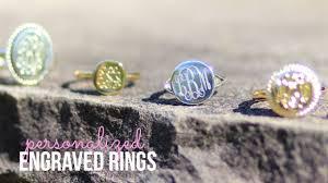 monogramed rings monogrammed rings