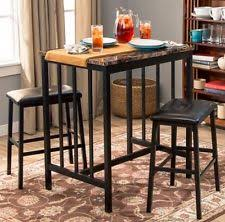 Bar Stool Table Sets with Bar Table Set Ebay