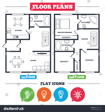 house floor plan symbols architecture plan furniture house floor plan stock vector 618811766