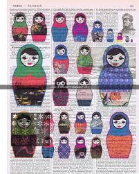 matryoshka russian nesting dolls card dianne faw