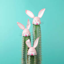 easter rabbits decorations cactus with easter rabbit decorations photos