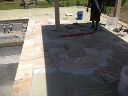laying pavers over concrete patio swimming pool renovations commercial and residential