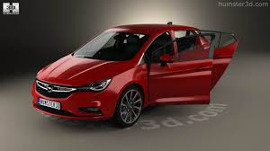 opel astra interior 360 view of opel astra k with hq interior 2016 3d model hum3d store