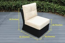 Patio Furniture With Sunbrella Cushions Beautiful Outdoor Patio Wicker Furniture Seating 11 Pc Sofa