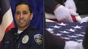 Fallen Officer Flag Slain Downey Officer Ricardo Galvez Honored At Fallen Officer