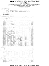 manual trans overhaul f4m20 f5m20 30 km200 gear clutch