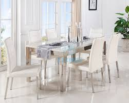 Mirrored Dining Room Table White Leather Dining Room Set White Leather Dining Room Set