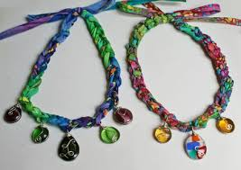crochet necklace patterns images Crochet necklace pattern with wire wrapped pendants jpg