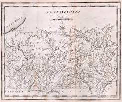 County Map Pennsylvania by 1795 To 1799 Pennsylvania Maps