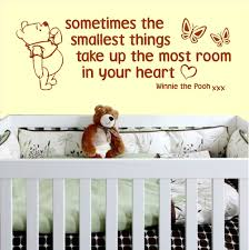 Winnie The Pooh Wall Decals For Nursery by Wall Decal Sometimes The Smallest Things Color The Walls Of Your