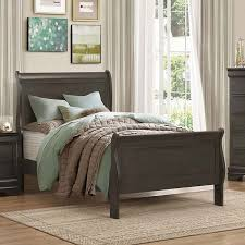 Grey Sleigh Bed Mayville Youth Sleigh Bed Stained Grey Beds And