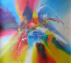 beautiful pastel pop of color painting free shipping elated