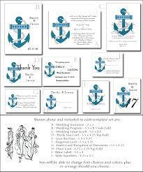 Blank Wedding Invitation Kits Beach Wedding Invitation Kit 5 Printable Nautical Templates