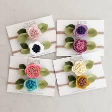 felt headbands felt flower headband headband by littlebloomshandmade