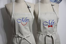 Personalized Aprons For Women Couples Gift Set His And Hers Aprons Custom Wedding