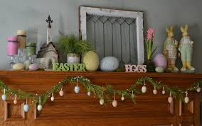 Easter Home Decor by Ideas Happy Easter With Lovely Easter Decor On The Mantel