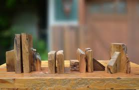 buy custom made rustic reclaimed wood bookends made to order from